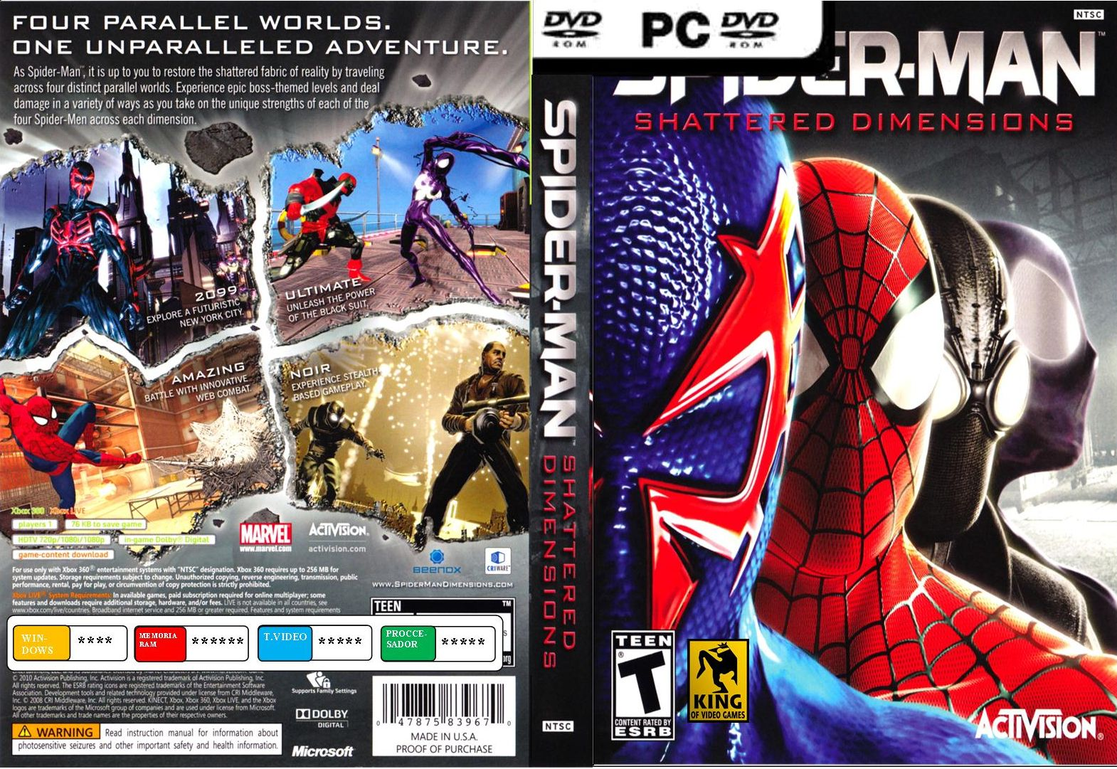 spiderman shattered dimension pc
