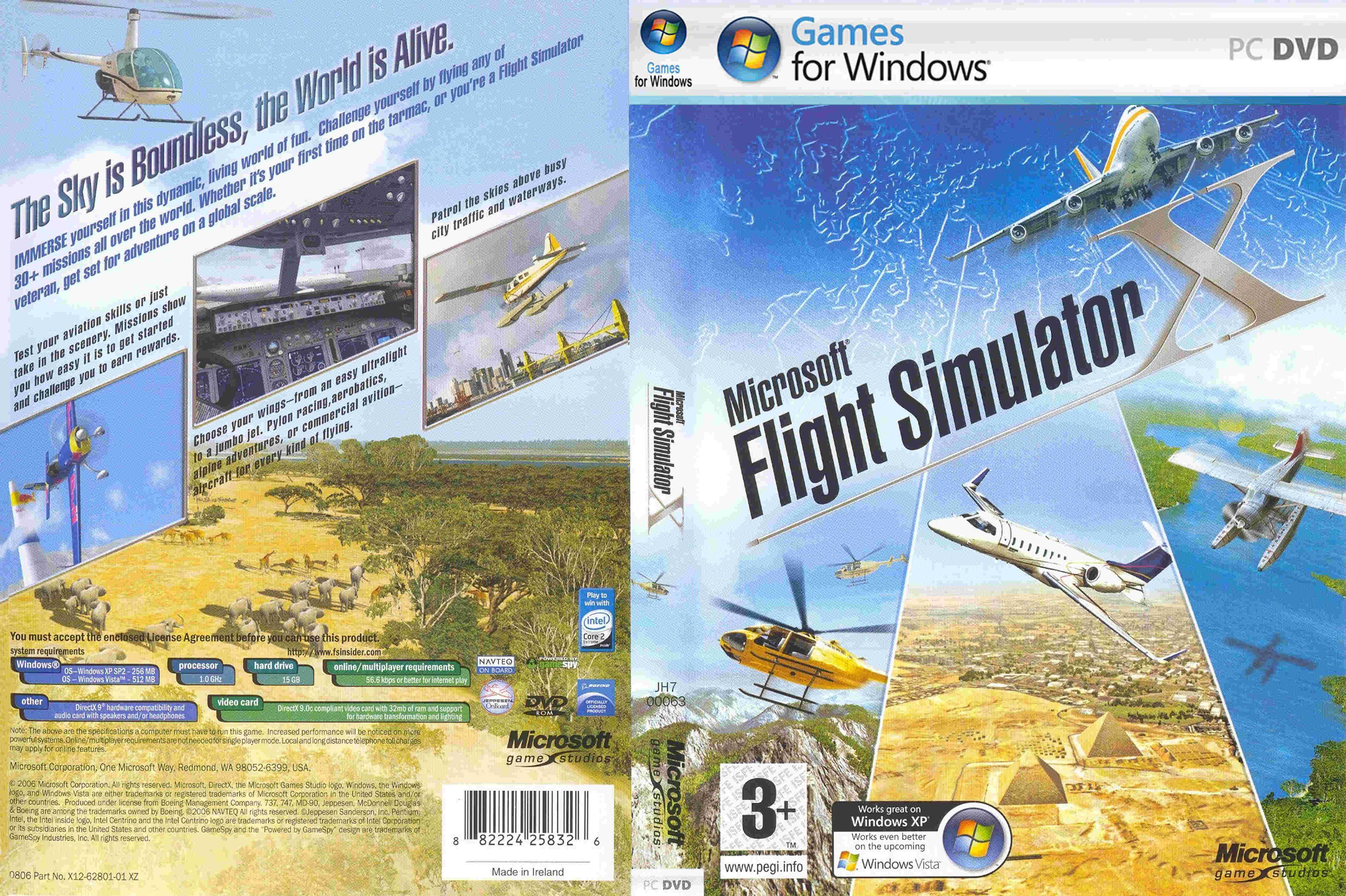 Игра Microsoft Flight Simulator X, рус.