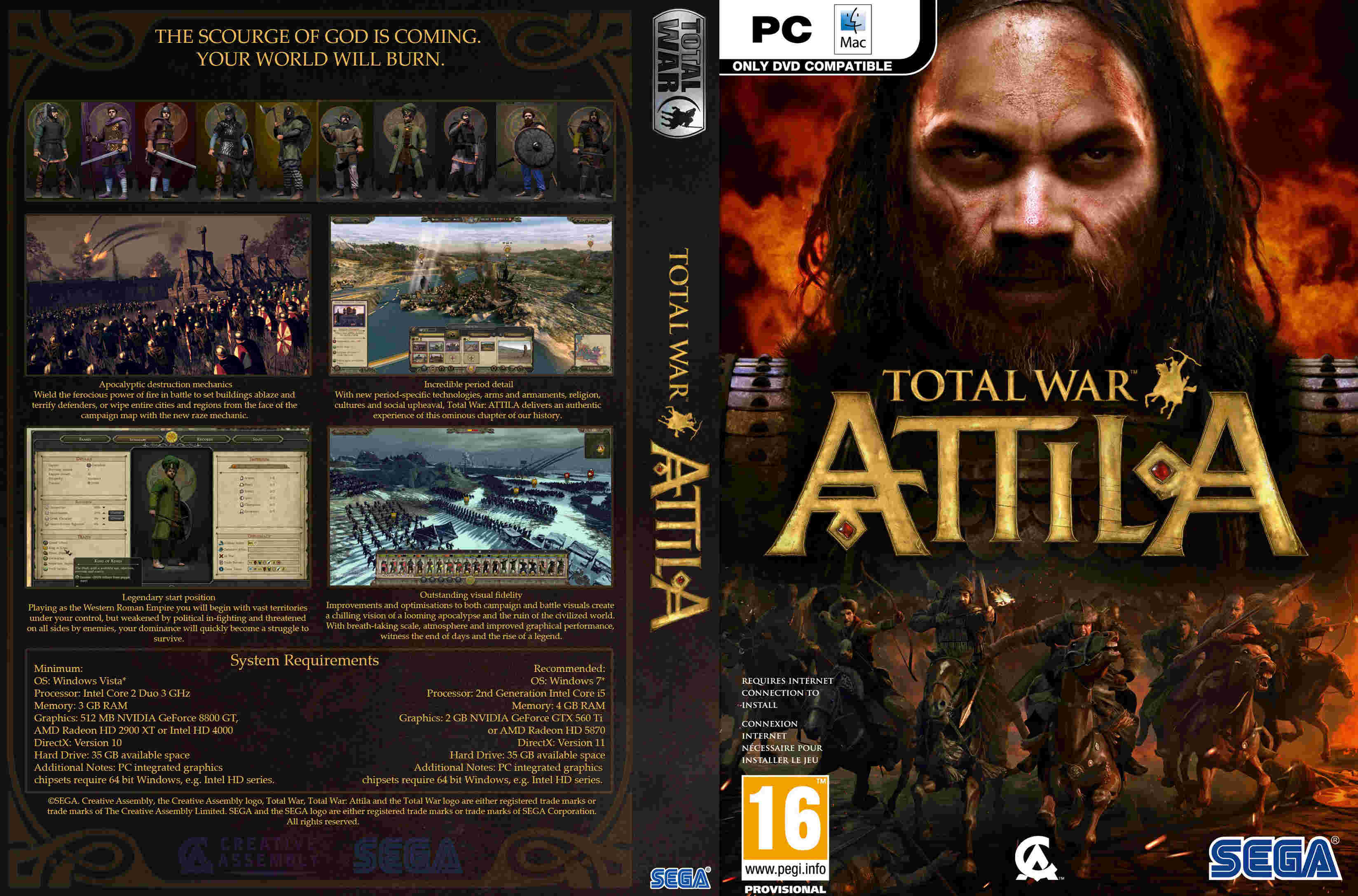 Total War: Attila ( 6 dvd ) |